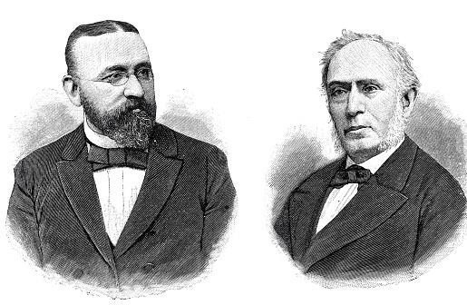 Wilhelm Borscht, mayor of Munich and Matthäus Hipp, inventor