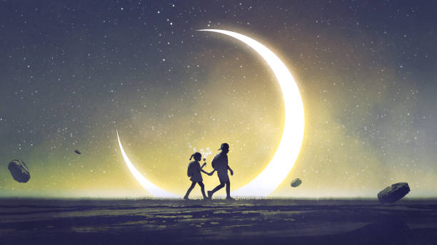I will take you to a special place vector art illustration