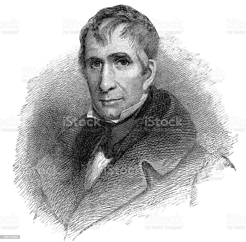 William Harrison,9th President Of United States royalty-free stock vector art