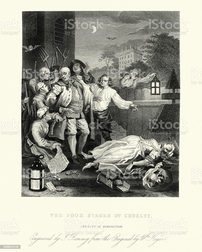 William Hogarth's Cruelty in perfection vector art illustration