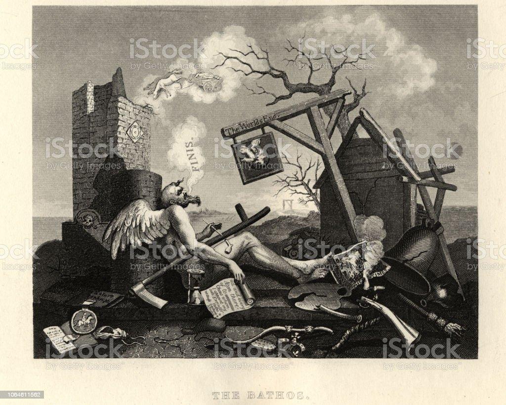 ウィリアム ホガーステールピースまたはベイソス世界の終わり 18世紀の