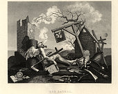 William Hogarth's, Tailpiece, or The Bathos, The World's End