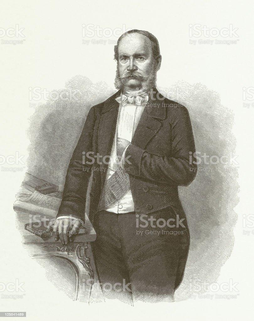 William I vector art illustration