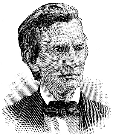 Engraving from 1886 showing William Maxwell Evarts who was a New York Senator and the Attorney General.