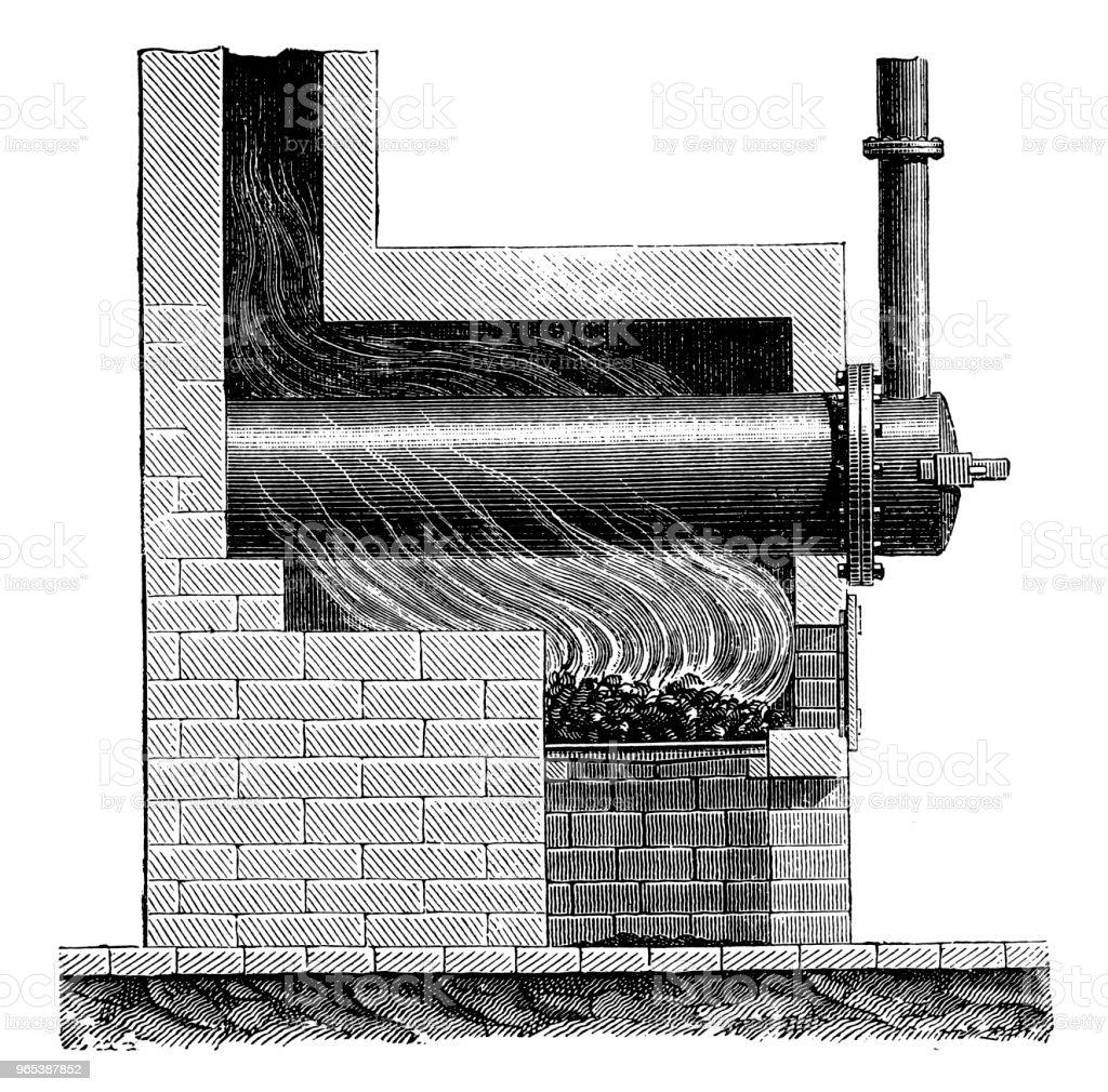 William Murdoch (août 21,1754 - 15 novembre 1839), Machine à la Distillation des gaz de houille, 1790 - Illustration de Affaires libre de droits