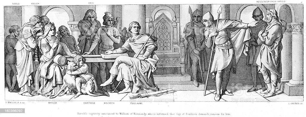 William of Normandy vector art illustration