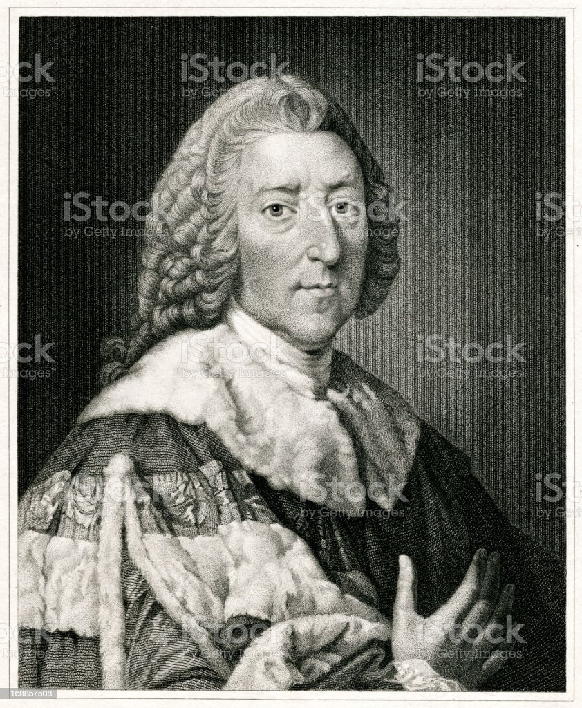 William Pitt, Earl Of Chatham royalty-free stock vector art