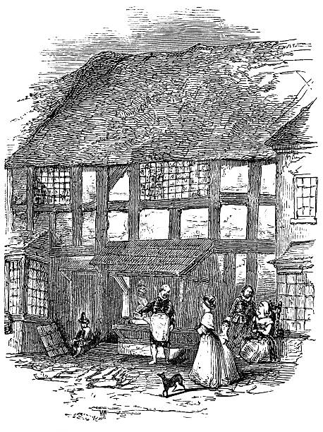 william shakespeare birthplace house - romeo and juliet stock illustrations, clip art, cartoons, & icons