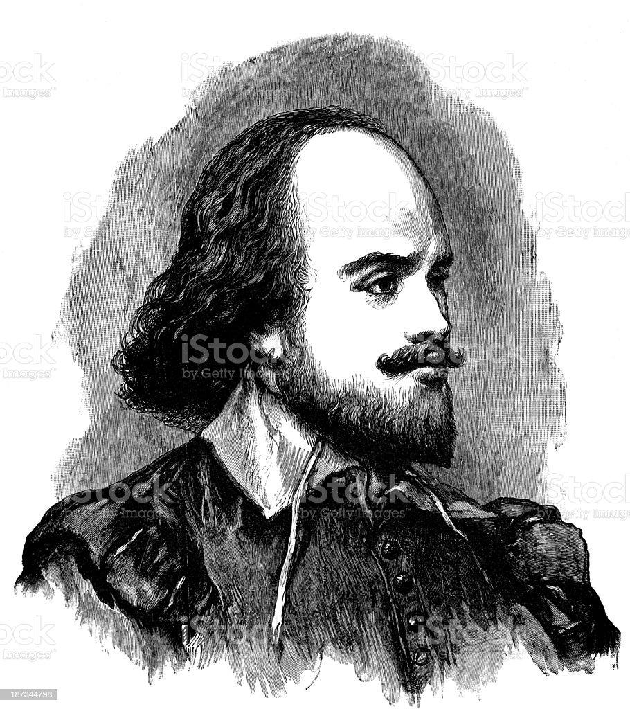 William Shakespeare royalty-free stock vector art