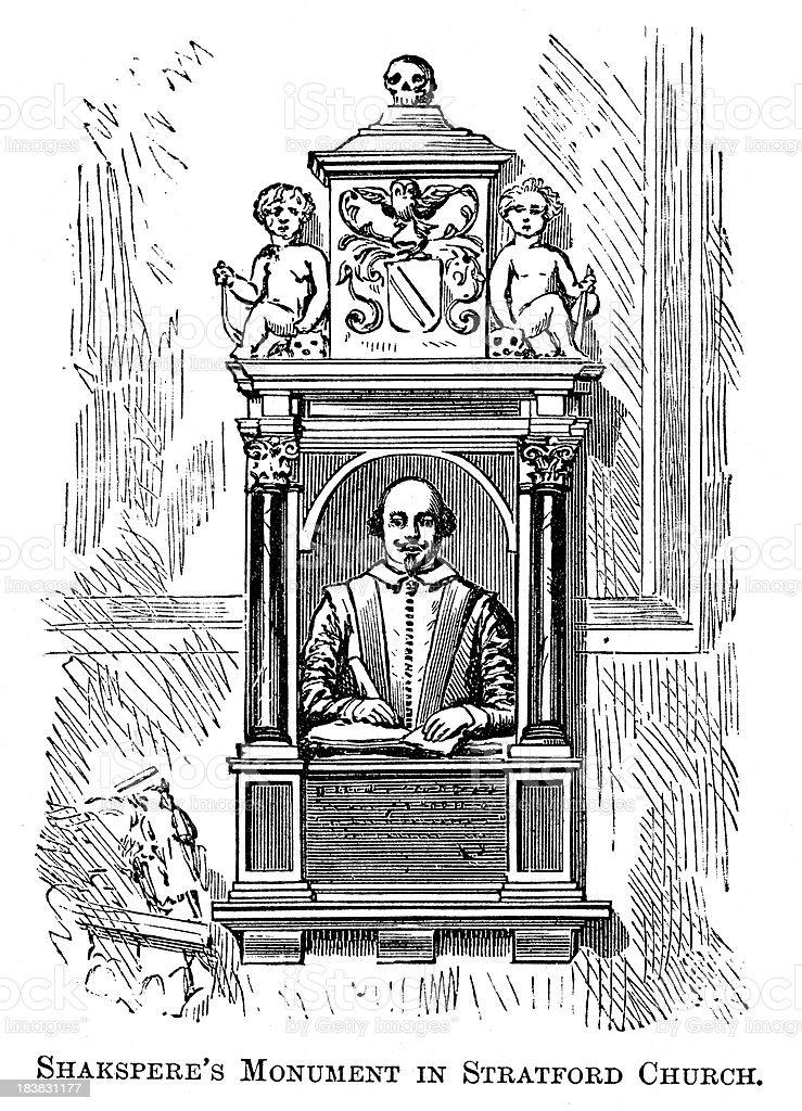 William Shakespeare Monument royalty-free stock vector art