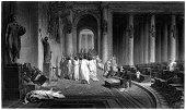 istock William Shakespeare: The Death of Julius Caesar (engraved illustration) 183837448