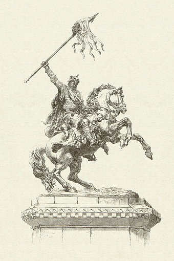 William the Conqueror (1027/28-1087), English king, wood engraving, published 1881