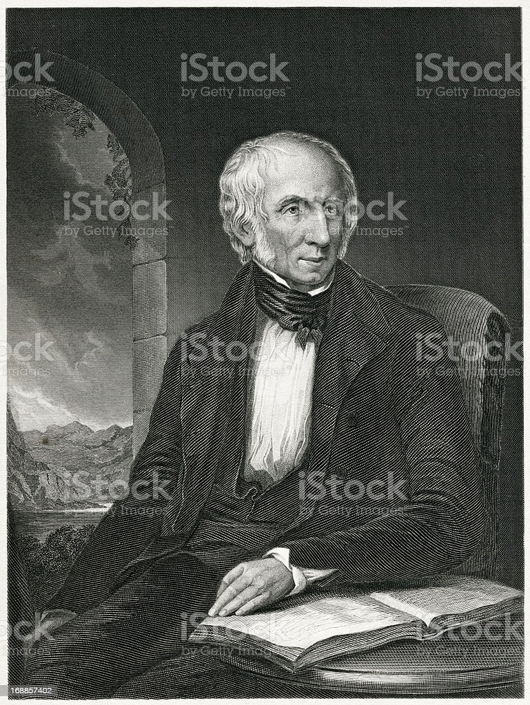 William Wordsworth royalty-free stock vector art
