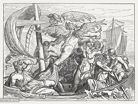 Wind God Aeolus Brings Ulysses Misfortune Greek Mythology Published