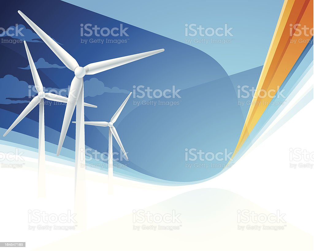 Wind Power Background royalty-free stock vector art