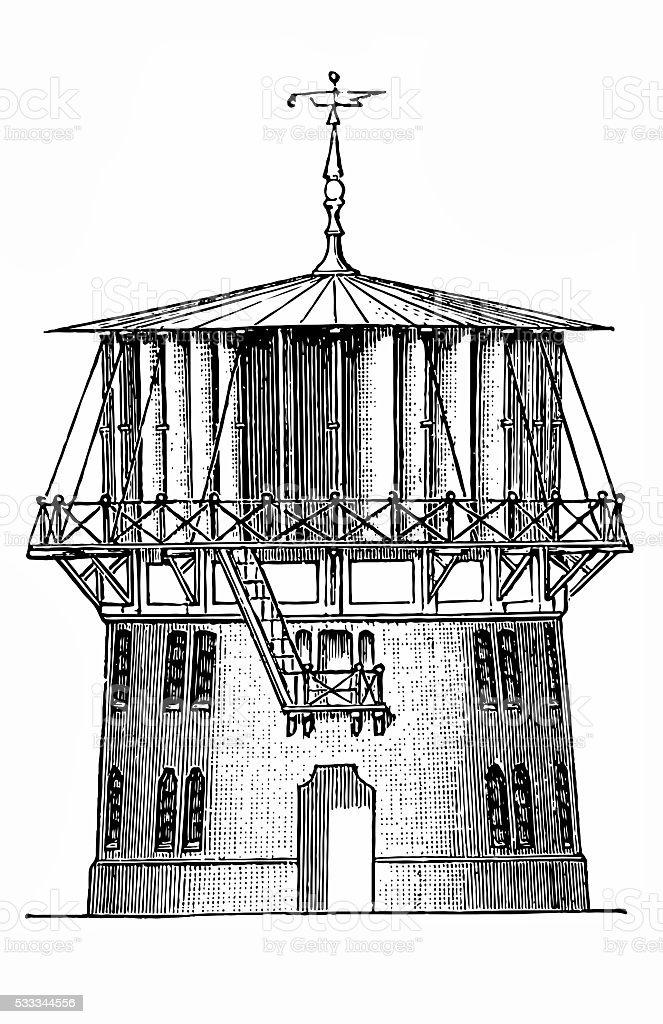 Wind turbine by Wulf vector art illustration
