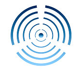 Wind turbine logo, wind energy symbol, air conditioning icon