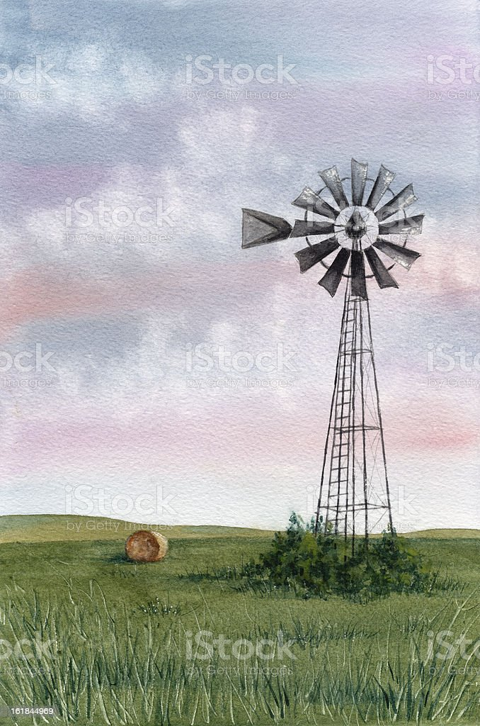 Windmill royalty-free stock vector art