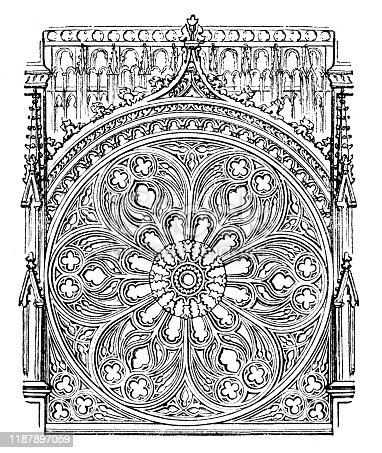 Window at cathedral in Rouen France Rouen Cathedral ( French: Cathédrale primatiale Notre-Dame de l'Assomption de Rouen) is a Roman Catholic church in Rouen, Normandy, France. Original edition from my own archives Source :