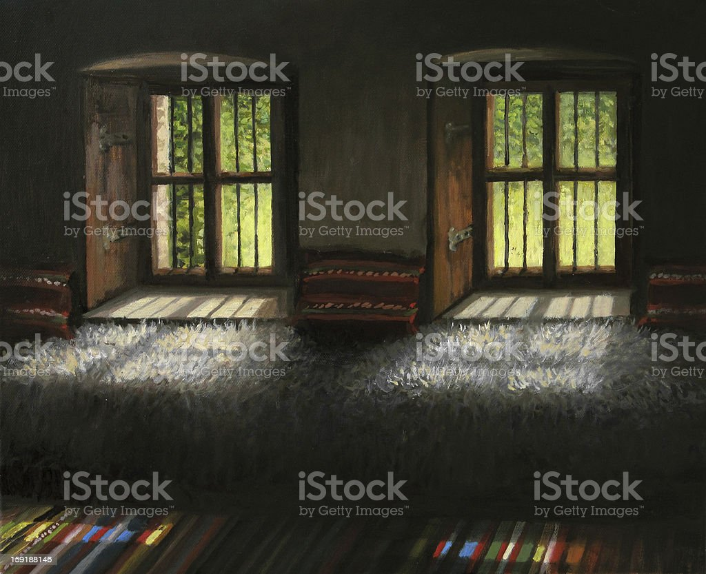 Windows to the Past royalty-free stock vector art