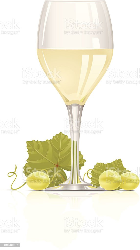 Wine and grape vector art illustration