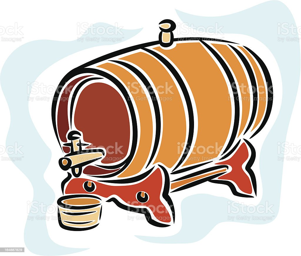 Wine Barrel (Vector) royalty-free wine barrel stock vector art & more images of alcohol
