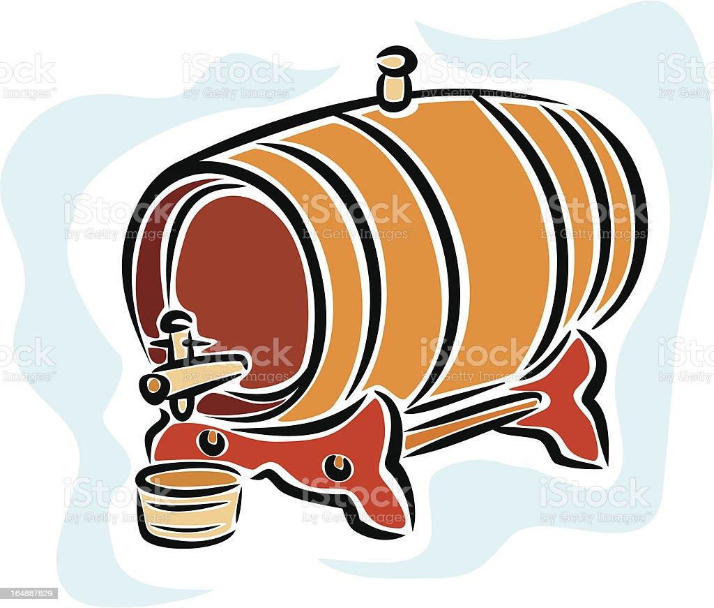 Wine Barrel (Vector) royalty-free stock vector art