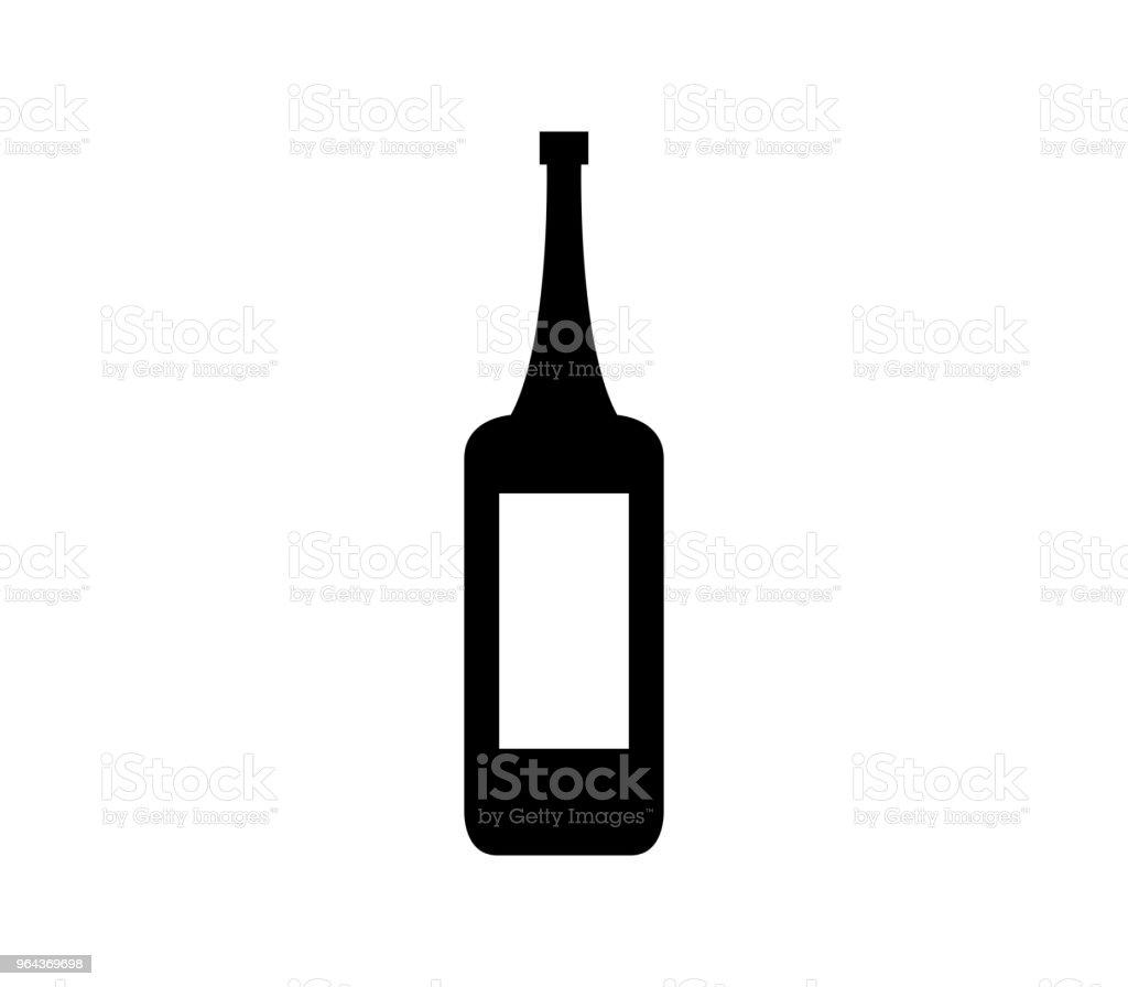 Garrafa de vinho ícone - Ilustração de Bebida alcoólica royalty-free