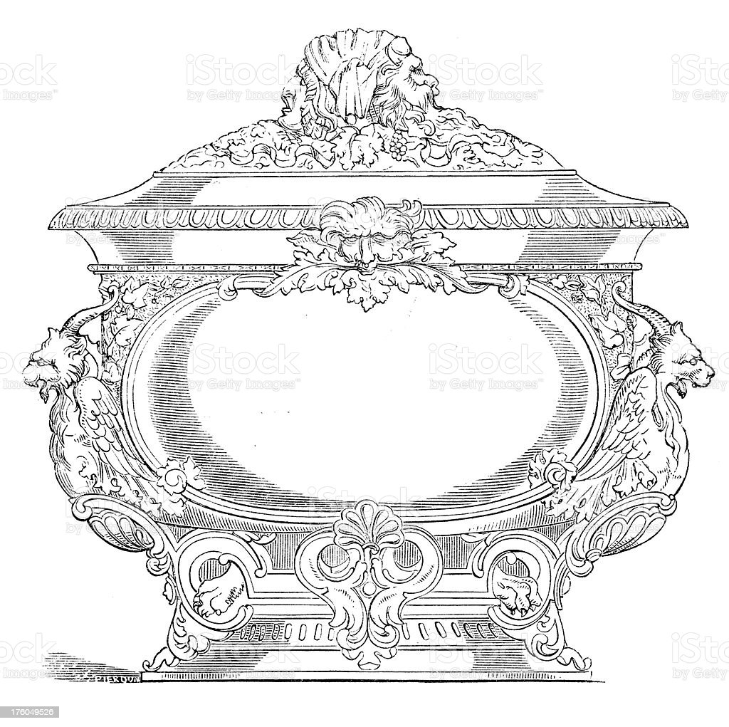Wine Cooler | Antique Food Illustrations royalty-free stock vector art