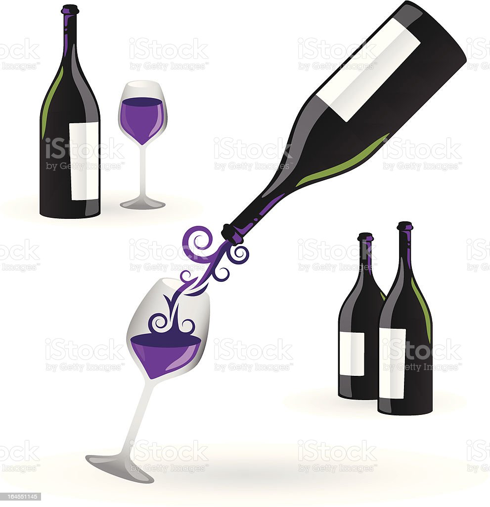 Wine Elements royalty-free stock vector art