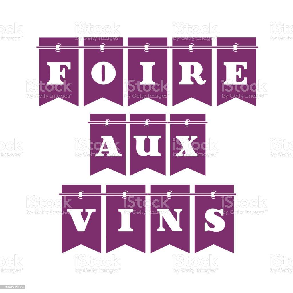 Vinho justo em francês - ilustração de arte em vetor