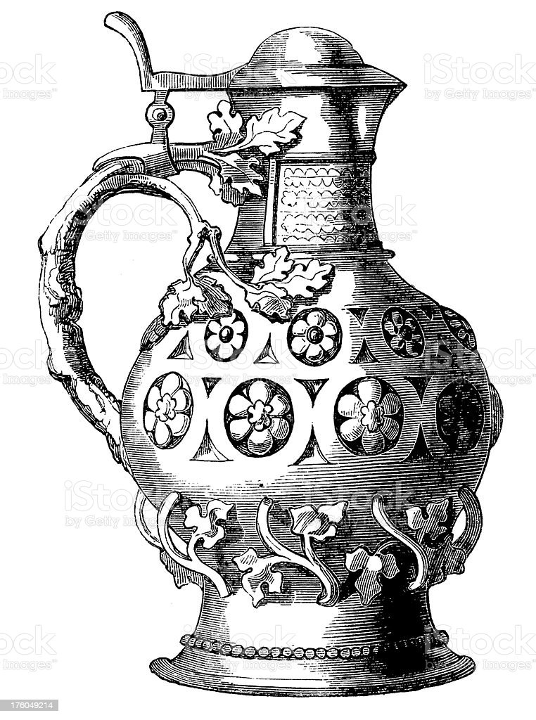 Wine Jug I Antique Food Illustrations royalty-free wine jug i antique food illustrations stock vector art & more images of 19th century