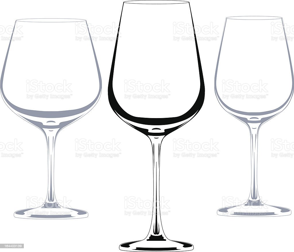 wine set of glasses royalty-free stock vector art