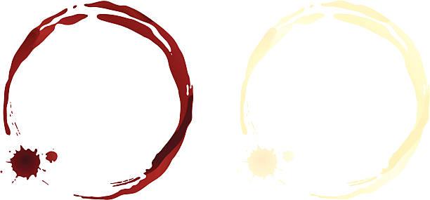 와인 얼룩을 - 때묻은 stock illustrations