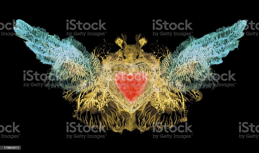 winged heart royalty-free stock vector art