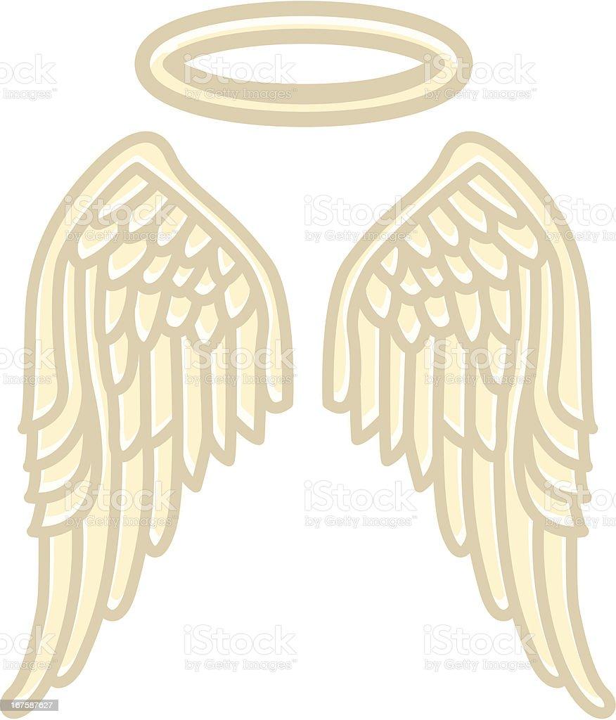 Wings of an Angel vector art illustration