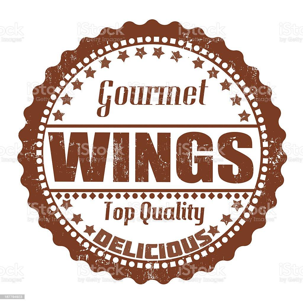 Wings stamp vector art illustration