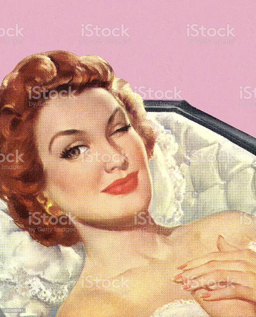 Winking Woman in Coffin royalty-free winking woman in coffin stock vector art & more images of adult
