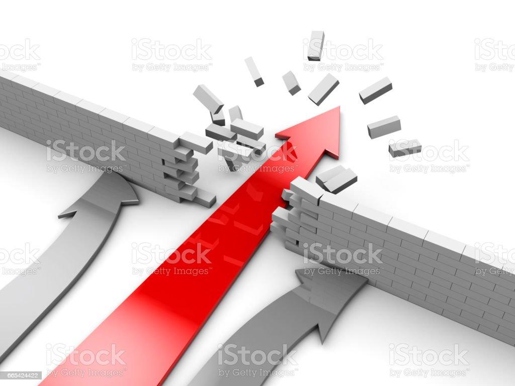 winner arrow vector art illustration