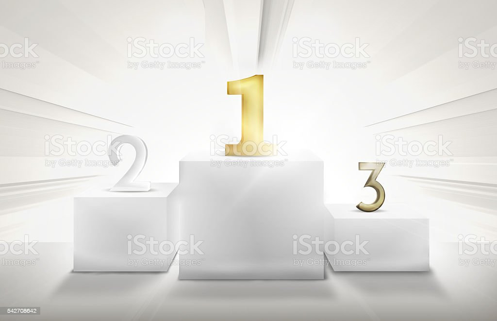 Winner Podium 1st 2nd 3rd 3D Render Illustration vector art illustration