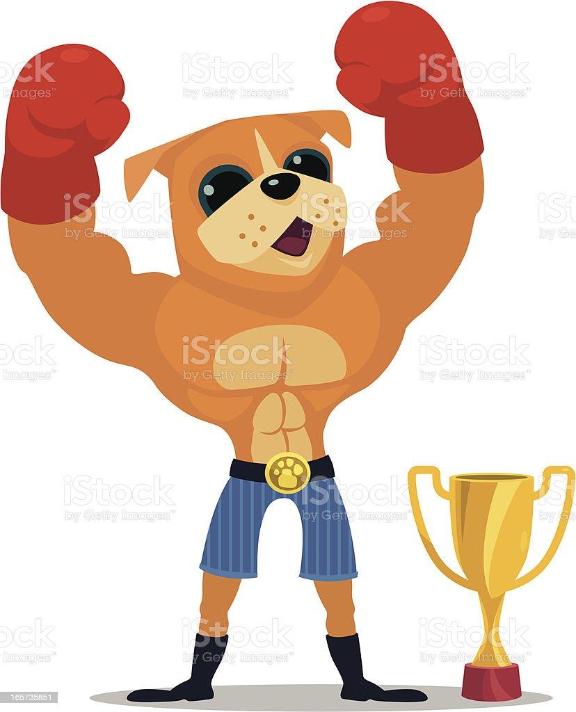 winning boxer royalty-free stock vector art