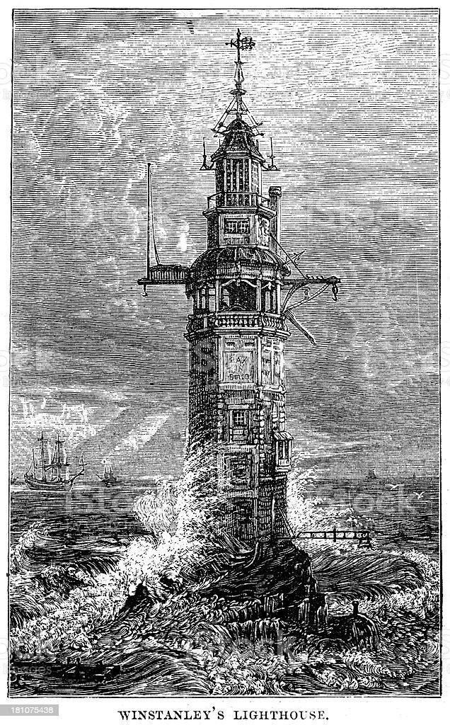 Winstanley's lighthouse royalty-free stock vector art