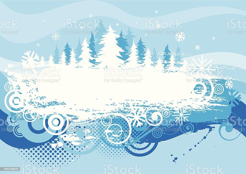 Winter background grunge design royalty-free stock vector art