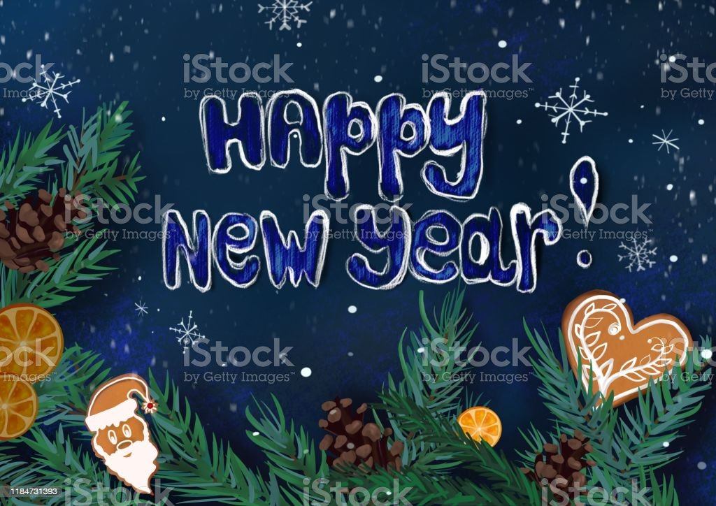 winter christmas wallpaper or background for design with christmas illustration id1184731393