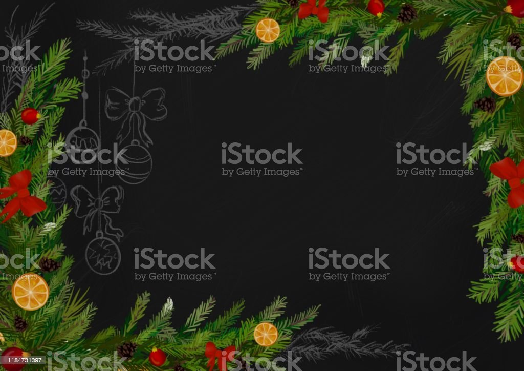 winter christmas wallpaper or background for design with christmas illustration id1184731397