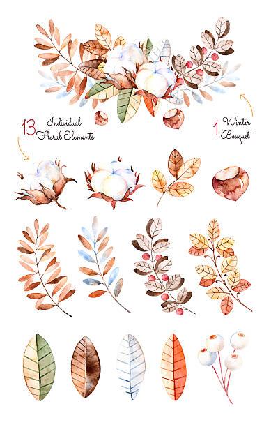 ilustrações de stock, clip art, desenhos animados e ícones de colecção de inverno - pena de pássaro algodão