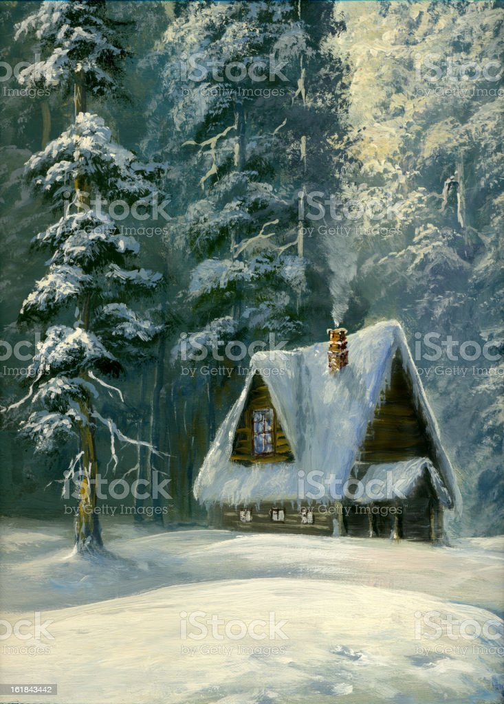 winter cottage royalty-free winter cottage stock vector art & more images of art