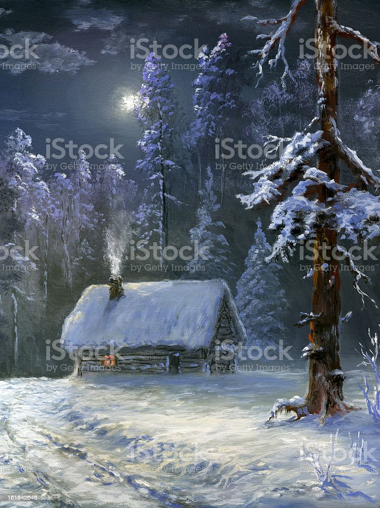 winter country royalty-free stock vector art