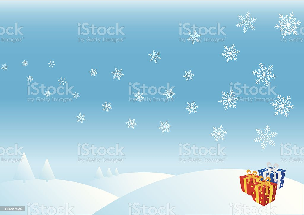 Winter day royalty-free stock vector art