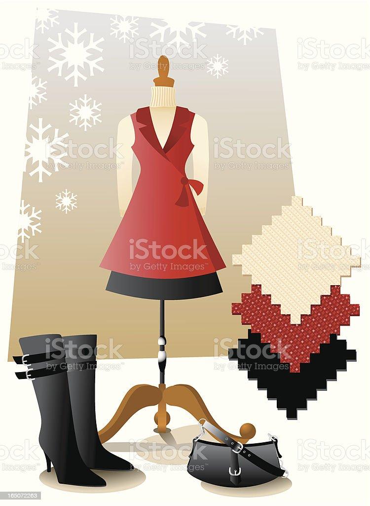 Winter fashion vector art illustration